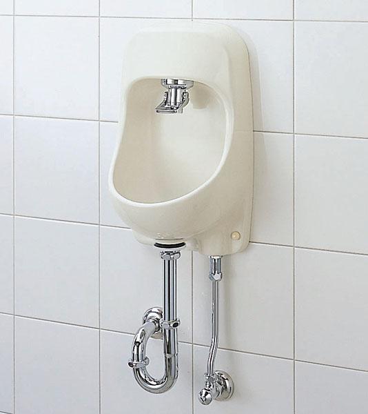【AWL-71UAP(S)】 LIXIL・リクシル トイレ用手洗い器 プッシュ式セルフストップ 壁給水・床排水 ハイパーキラミック INAX