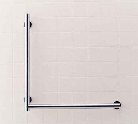 手すり 浴室・トイレ(左右タイプ選べます) 住宅用手摺り KSタイプL型 【KF-S20L(600)】(左仕様) 【KF-S20R(600)】(右仕様)【手すり 介護用】【INAX・イナックス・LIXIL・リクシル】