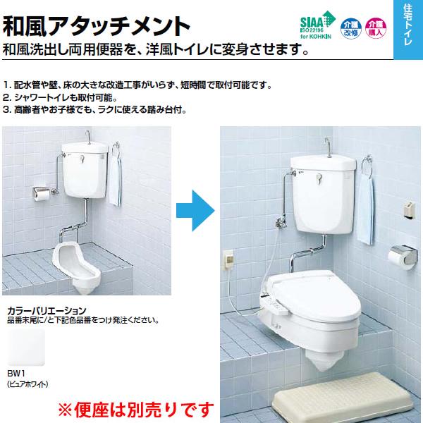 RC-504 和風アタッチメント 和式トイレを洋式トイレにリフォームします。INAX イナックス LIXIL・リクシル トイレ 【画像の便座やシャワートイレは別売りです】【RC-504】【セルフリノベーション】
