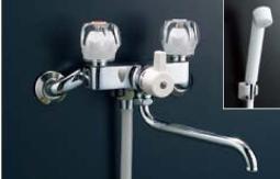LIXIL・リクシル バス水栓 ツーハンドルシャワーバス水栓(一時止水付)【BF-615H(300)-G】 INAX