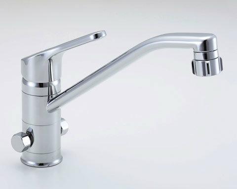 【SF-HB442SYXNB】[寒冷地対応] INAX イナックス LIXIL・リクシル キッチン用分岐水栓金具 ワンホールタイプ キッチンシャワー付 クロマーレ(エコハンドル)