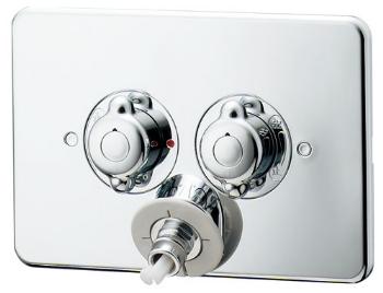 洗濯機用混合栓(天井配管用) 【127-103K】 【配管資材・水道材料】カクダイ