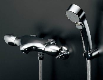 【173-235】カクダイサーモスタットシャワー混合栓【混合水栓・浴室・水栓・ シャワー水栓】