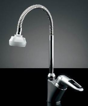 シングルレバー混合栓(シャワつき) 【183-084K】 【配管資材・水道材料】カクダイ