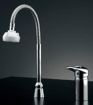 シングルレバー混合栓(シャワつき) 【185-511K】 【配管資材・水道材料】カクダイ