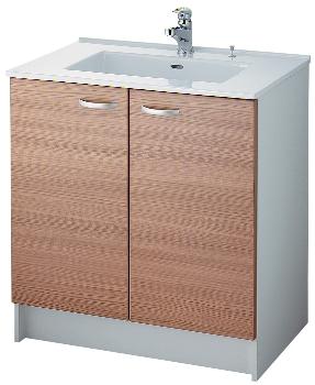 洗面キャビネット//ウッド 【200-300-W】 【配管資材・水道材料】カクダイ