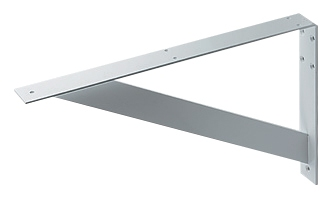 ブラケット//平鋼、白色塗装 【250-002-W】 【配管資材・水道材料】カクダイ