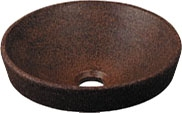 丸型手洗器//窯肌 【493-012-M】 【配管資材・水道材料】カクダイ