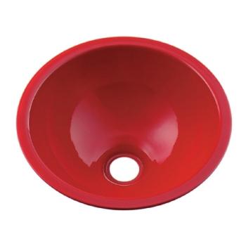 丸型手洗器//レッド 【493-026-R】 【配管資材・水道材料】カクダイ