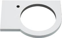 コーナーカウンター//L・R兼用タイプ、深雪 【497-051-W】 【配管資材・水道材料】カクダイ