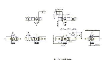ストレート形分岐金具胴体 【7878C】 【配管資材・水道材料】カクダイ