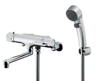 (逆配管) 【173-136】カクダイサーモスタットシャワー混合栓【混合水栓・浴室・水栓・ シャワー水栓】