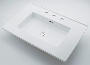 角型洗面器 【493-091 (3ホール)】 【配管資材・水道材料】カクダイ