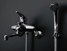 【143-001】シングルレバー バスシャワー 混合栓【カクダイ 水栓金具】水抜き可能共用タイプ