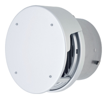 【AT-200TCWAD】 メルコエアテック 外壁用(アルミ製) 丸形防風板付ベントキャップ(覆い付)|縦ギャラリ・網 【AT200TCWAD】[新品] 【送料込み】【代引き不可】