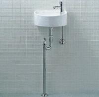 【トイレ手洗い器一式セット】【YAWL-33(S)】手洗い器 壁給水・床排水 LIXIL・リクシル アクアセラミック 省スペースでも設置OK INAX 【沖縄・北海道・離島は送料別途必要です】