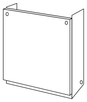 ノーリツ[NORITZ] 配管カバー 【H67-K1000-S】 ガス給湯器 関連部材 品コード:[0708174]
