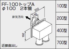 【0700384】ノーリツ 給湯器 関連部材 給湯器 φ100 給排気トップ(2重管方式及び2本管方式) 関連部材 FF-100トップA φ100 2本管 700型, ROCKBROS:3aedb28f --- sunward.msk.ru