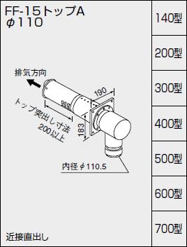【全品送料無料】【0794203】ノーリツ 給湯器 関連部材 給排気トップ(2重管方式及び2本管方式) FF-15トップA φ110 300型