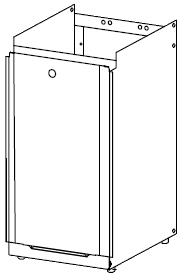 ノーリツ[NORITZ] 据置台 【D64】 ガス給湯器 関連部材 品コード:[0707898]