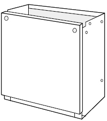 ノーリツ[NORITZ] 据置台 【D66-650-W】 ガス給湯器 関連部材 品コード:[0708361]
