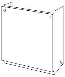 ノーリツ[NORITZ] 配管カバー 【H68-K900-S】 ガス給湯器 関連部材 品コード:[0708193]
