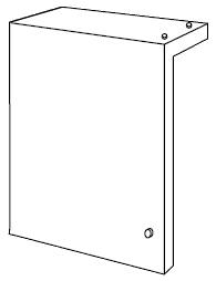 ノーリツ[NORITZ] 配管カバーHR 【HR6】 ガス給湯器 関連部材 品コード:[0708356]