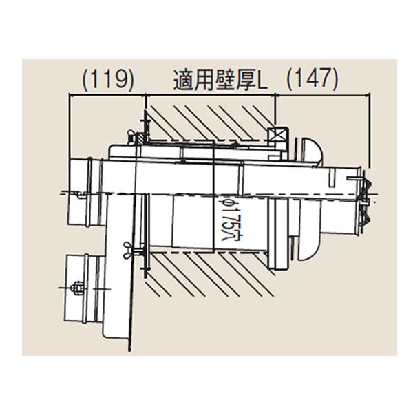 リンナイ φ100KP部材【FFT-10-300C】φ100 2本管給排気トップ(24-3733)【FFT10300C】 給湯器