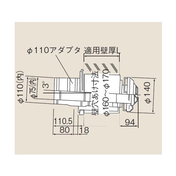 リンナイ φ120×φ80給排気部材 FF 2重管用 【FFT-12A-500】給排気トップ(21-5654)【FFT12A500】 給湯器