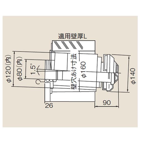 リンナイ φ120×φ80給排気部材 FF 2重管用 【FFT-4B-200】給排気トップ(直排専用)(21-6195)【FFT4B200】 給湯器