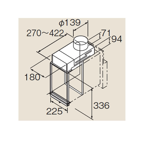 リンナイ ホールインワン関連部材【HL-CADB】チャンバーアダプタB(24-7886 )【HLCADB】 給湯器