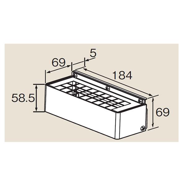 リンナイ ホールインワン関連部材【HL-HC】排気カバー(24-7746)【HLHC】 給湯器
