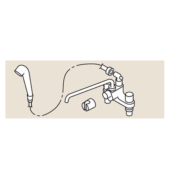 リンナイ ホールインワン関連部材【HL-SS-MKS】シャワー金具MKS(24-5069)【HLSSMKS】 給湯器