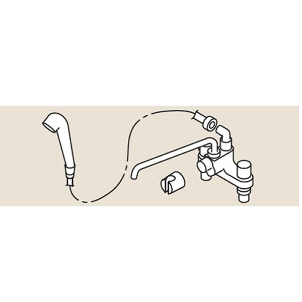 リンナイ ホールインワン関連部材【HL-SS-MS】シャワー金具MS(24-5051)【HLSSMS】 給湯器