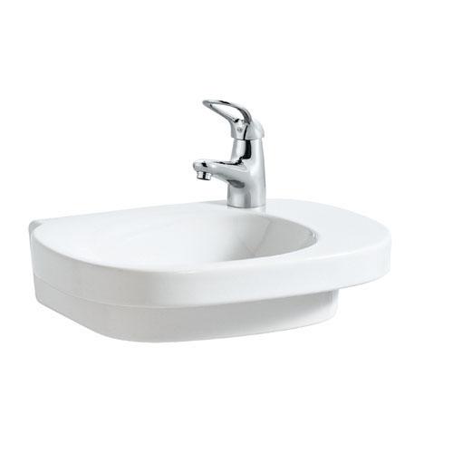三栄水栓 デザイン水栓シリーズ 洗面器 【SL810556-WP-104】 (ホワイト&ピンク) LAUFEN【水栓・SANEI】