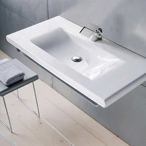 三栄水栓 SL814437-W-104 デザイン水栓シリーズ 洗面器 LAUFEN【水栓・SANEI】