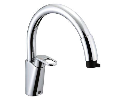 SF-HM451SYXU グースネック ハンドシャワー付シングルレバー混合水栓【セルフリノベーション】