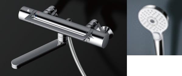 TOTO 浴室用水栓金具 【TBV03417Z】 GGシリーズ(アーチハンドル) 壁付サーモスタット混合水栓 コンフォートウエーブ3モードめっき 寒冷地対応 TOTO[トートー]