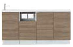 美品  AN-ACLEAEKXHJX INAX イナックス LIXIL リクシル キャパシア フルキャビネットプラン カウンター奥行280 手洗器一体型人造大理石カウンター 左仕様 床壁共通給水仕様 壁排水 ハイグレード, お宝館TOYZ 96c4e9ca