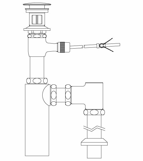 【LF-701SAC】 INAX・LIXIL 洗面器・手洗器用セット金具 ポップアップ式排水金具 (呼び径32mm) 床排水ボトルトラップ(排水口カバー付) イナックス・リクシル 納期1週間