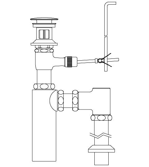 【LF-710SAC】 INAX・LIXIL 洗面器・手洗器用セット金具 ポップアップ式排水金具 (呼び径32mm) 床排水ボトルトラップ(排水口カバー付) イナックス・リクシル 納期1週間