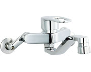 【SF-WM433SY】INAX LIXIL・リクシル キッチン用水栓金具壁付タイプ キッチンシャワー付 クロマーレS(エコハンドル) [新品]
