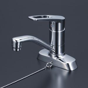 【KM7004TGS】KVK 洗面用シングルレバー式混合栓 ゴム栓付