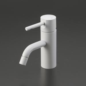 【KM7021M4】KVK 洗面用シングルレバー混合栓 マットホワイト 【せしゅるは全品送料無料】【沖縄・北海道・離島は送料別途必要です】