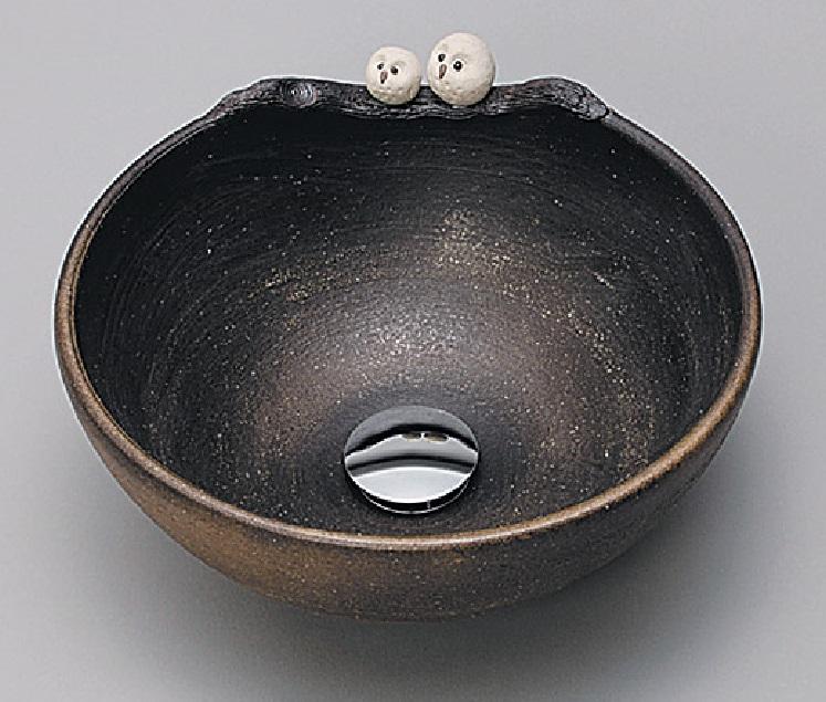 【KV203S】KVK 美術工芸手洗鉢ふくろう 【沖縄・北海道・離島は送料別途必要です】