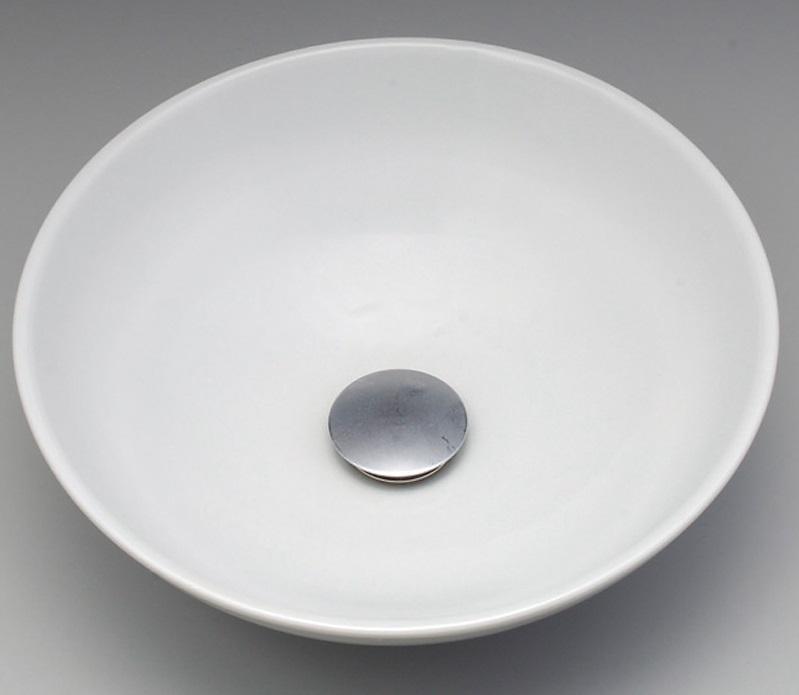 【KV48A】KVK 美術工芸手洗鉢白磁(はくじ)/プレーン 【沖縄・北海道・離島は送料別途必要です】