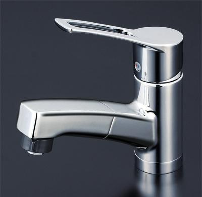 KVK 洗面用シングルレバー式シャワー付混合栓 【KM8001TF】[新品]