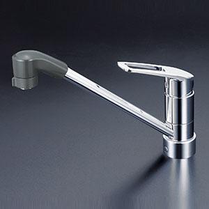 KVK キッチン 【KM5211ZJTF】 寒冷地用 流し台用シングルレバー式シャワー付混合栓/上施工 [新品]
