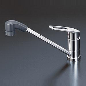 KVK キッチン 【KM5211ZTF】 寒冷地用 流し台用シングルレバー式シャワー付混合栓 [新品]