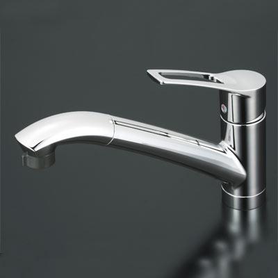 送料込み KVK シングルレバー式シャワー付混合栓 (シャワー引出し式) 【KM5031T】[新品]